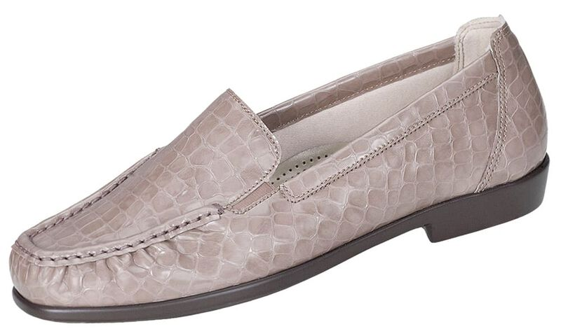 Joy Taupe Croc Left .75 View