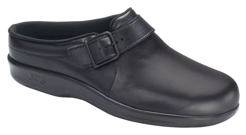 Clog Black Right .75 View