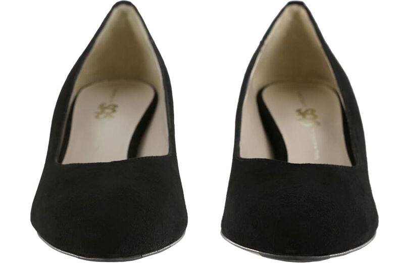 Moxie Black Suede Pair Front View