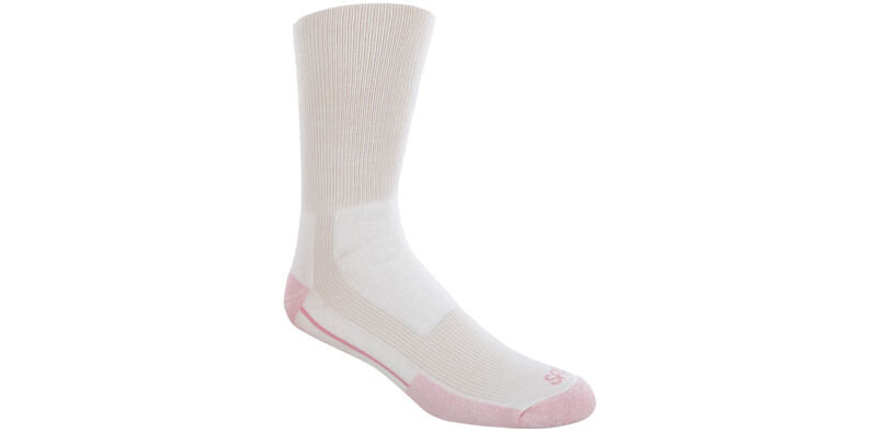 Women's Crew Walker Large White Socks Model View