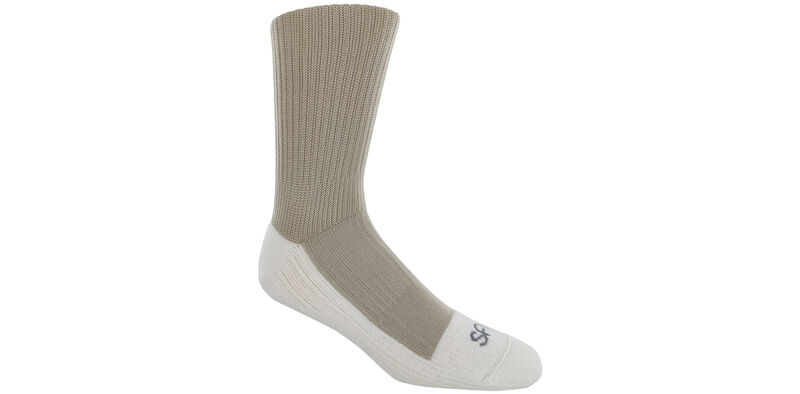 Diabetic Crew Large Khaki Socks Model View