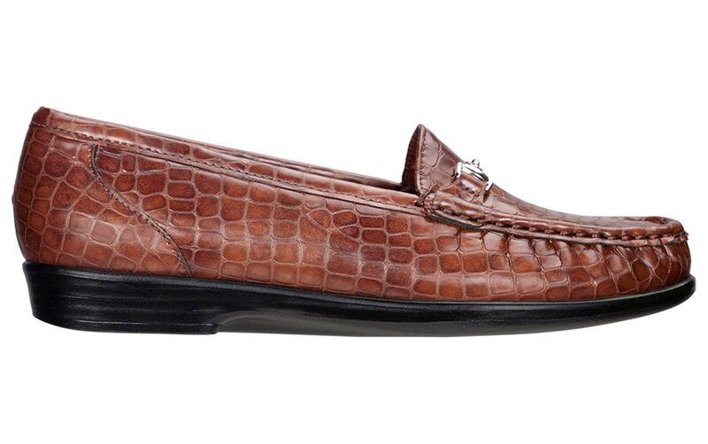 Metro Cognac Croc Left Side View