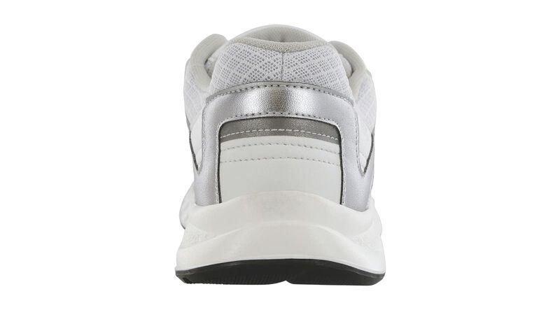 Tempo White-Silver Right Rear View
