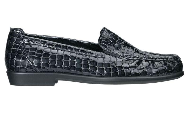 Joy Black Croc Right Side View