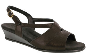Caress Cross Strap Wedge Sandal