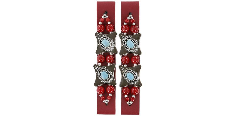 Bling Bella Red Turquoise-Silver Front View