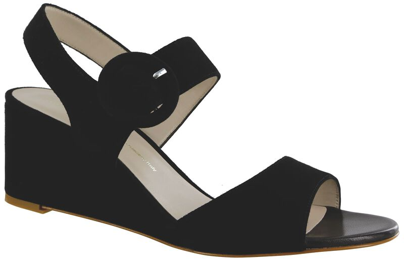 Carine Black Suede Right .75 View