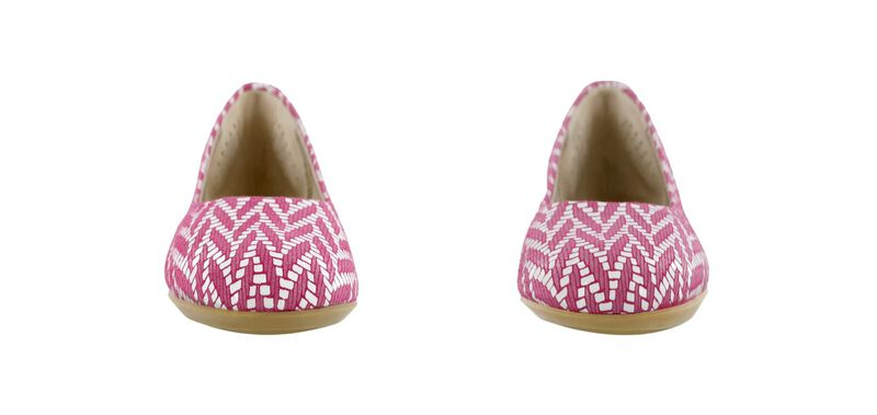 Lacey Slip On Loafer, Chevron Fuchsia, large