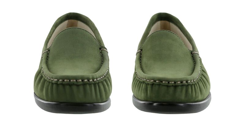 Simplify Green Nubuck Pair Front View