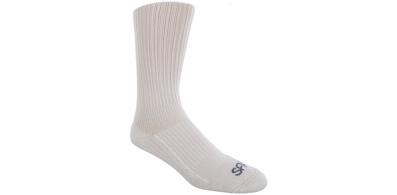 Diabetic Crew Medium White Socks Model View