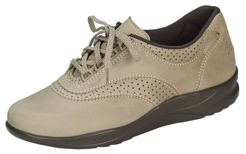Walk Easy Sage Nubuck Left .75 View