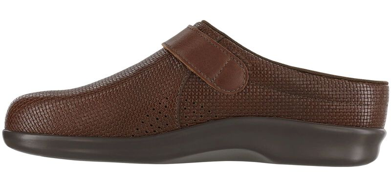 Clog Woven Brown Right Side View