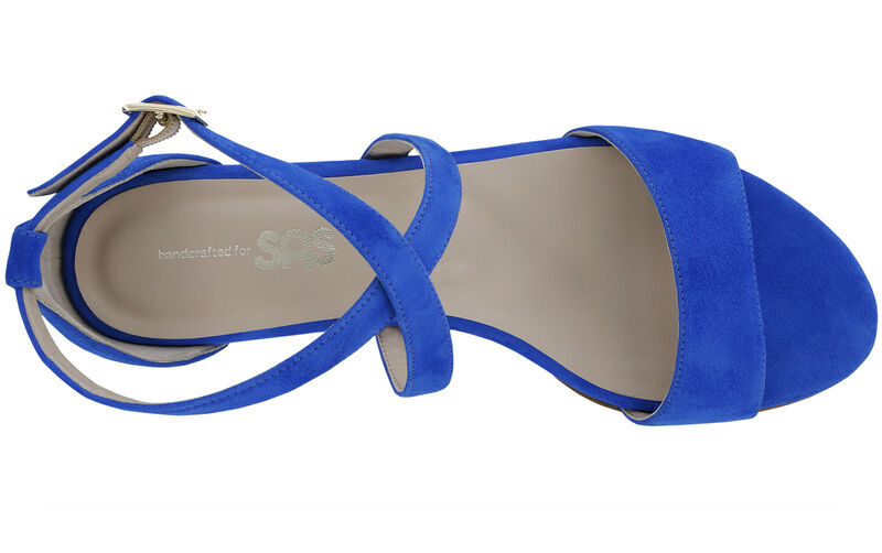 Simone Suede Blue Left Top View
