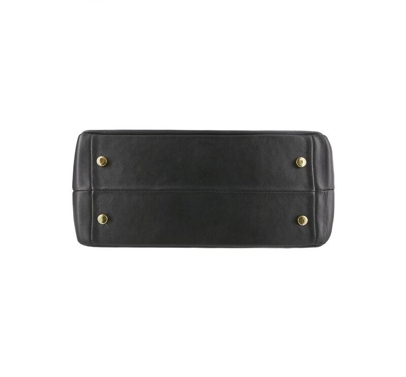 Diane Shoulder Handbag, Black / Gold, large
