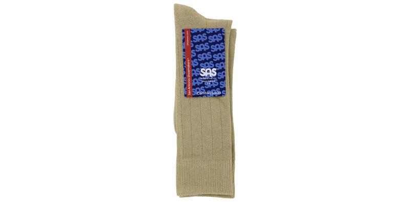 Mayo Viscose Men's Medium Khaki Socks Front View