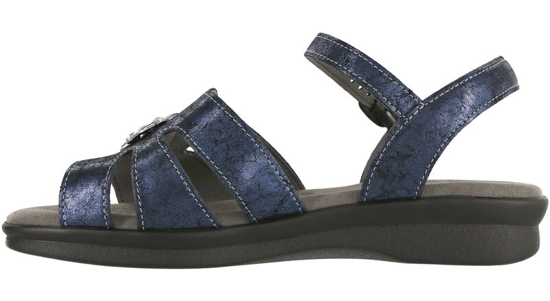 Helena Crackle Navy Right Side View
