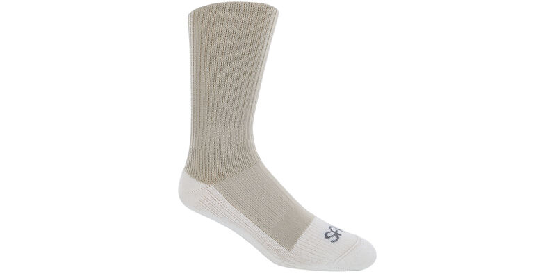 Diabetic Crew Medium Khaki Socks Model View