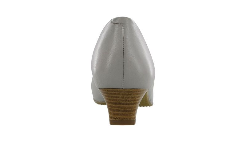 Eleanor Taupe Stripe Bow Right Rear View