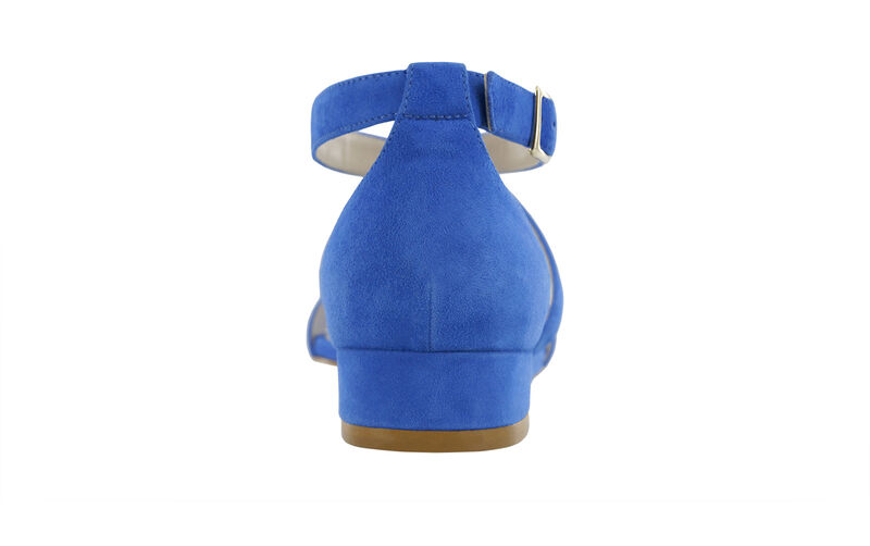 Simone Suede Blue Right Rear View