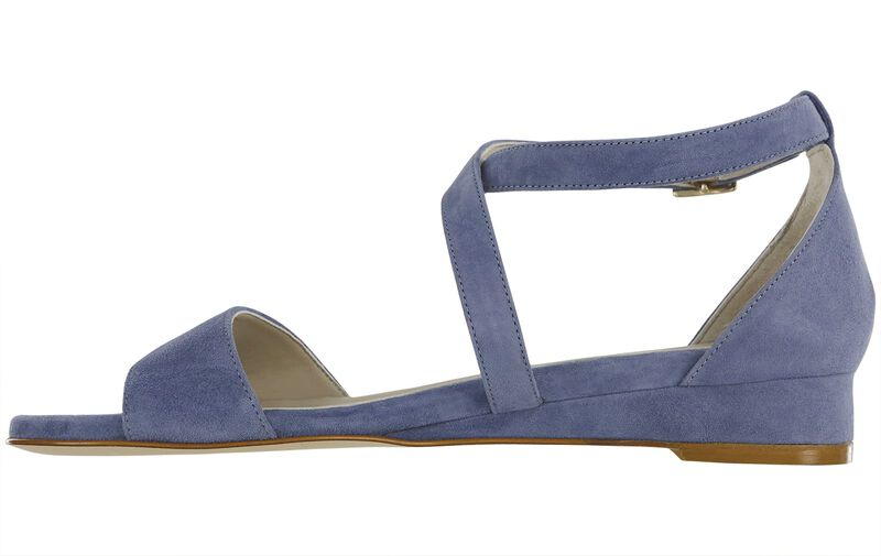 Simone Sky Blue Suede Right Side View