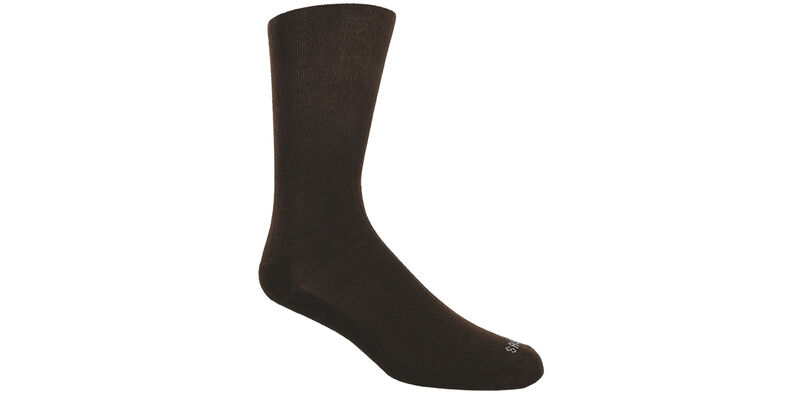 Mayo Viscose Men's Medium Brown Socks Model View