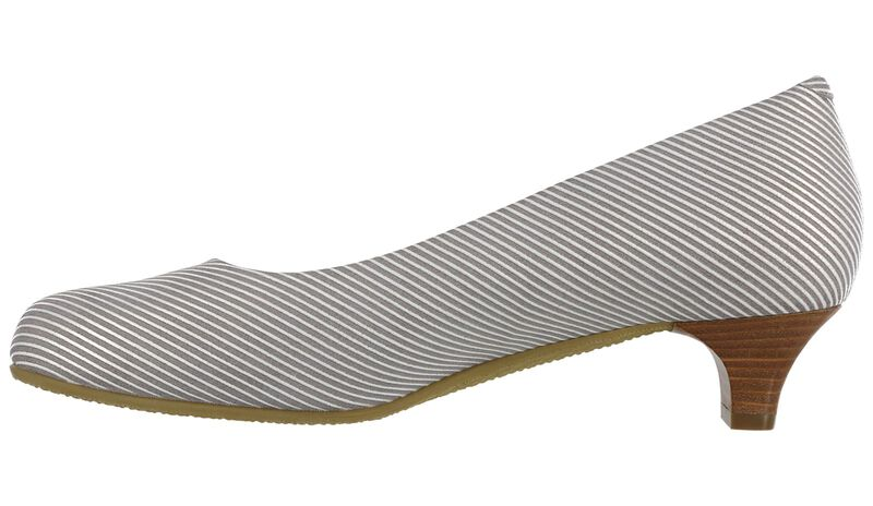 Elaine Taupe Stripe Right Side View