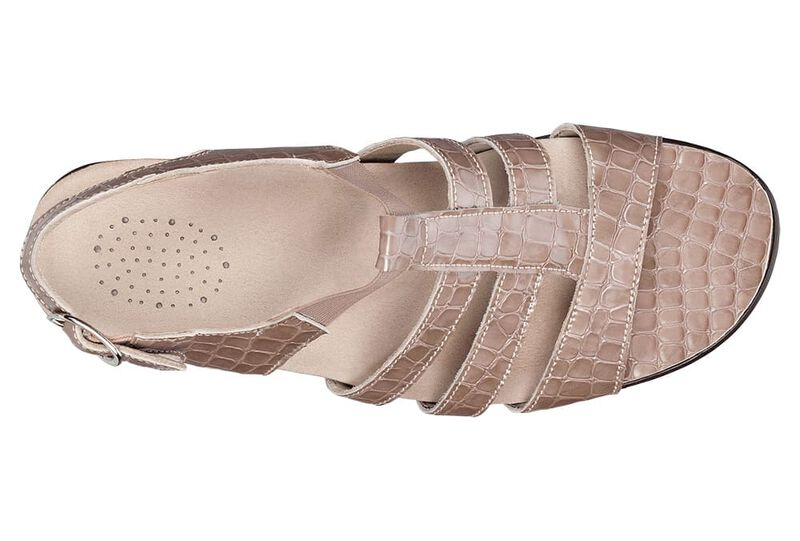 Allegro Taupe Croc Right Top View