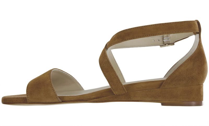 Simone Tan Suede Right Side View