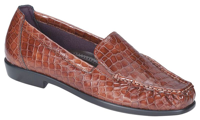 Joy Cognac Croc Right .75 View