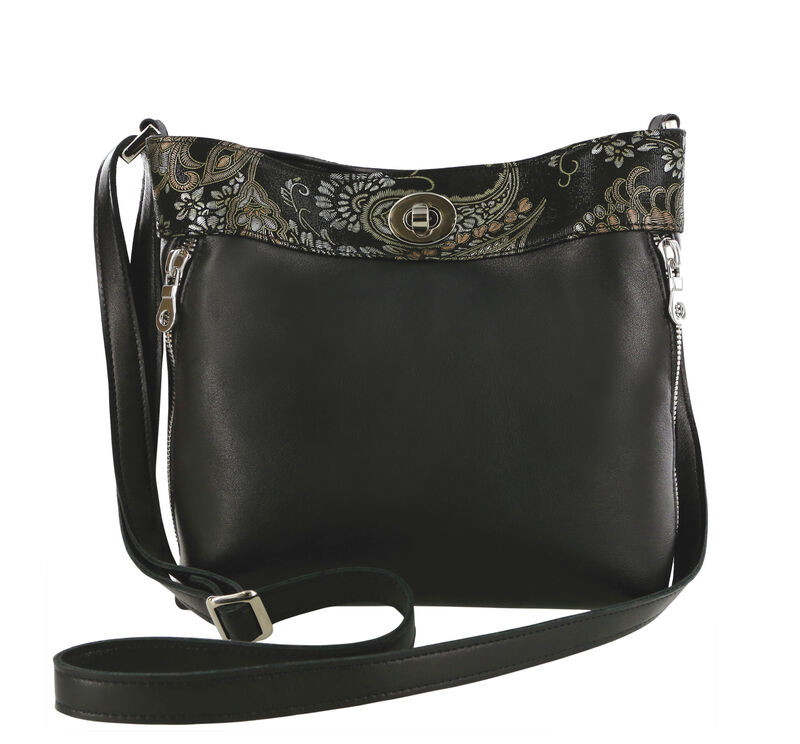 Heidi II Black Brocade Bag View 1