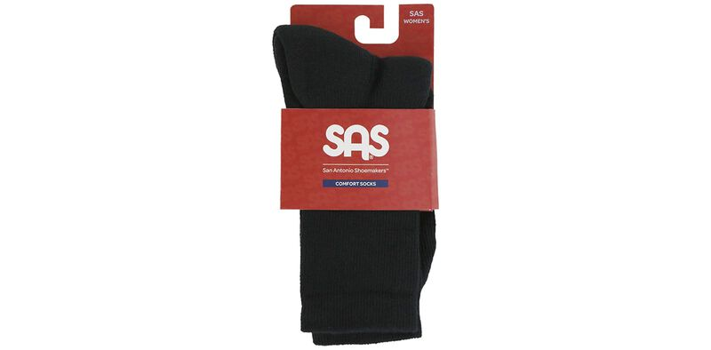 Women's Crew Walker Medium Black Socks Front View