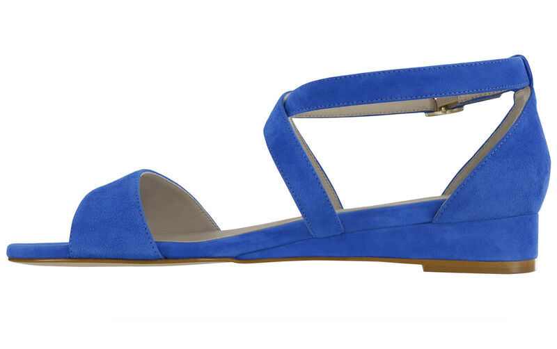 Simone Suede Blue Right Side View