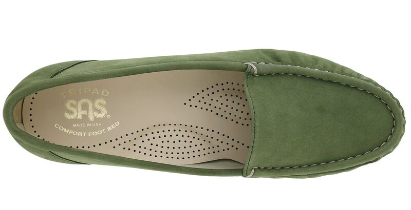 Simplify Green Nubuck Left Top View