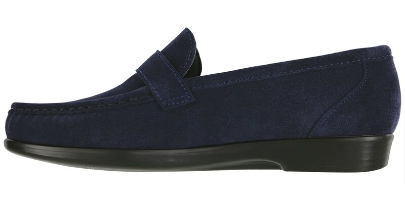 Lara Navy Suede Left Side View