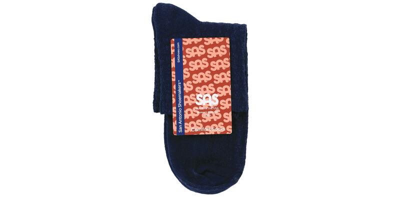 Mayo Crotchet Net Medium Navy Socks Front View