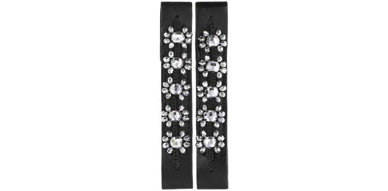 Bling Flora Black-Silver Front View