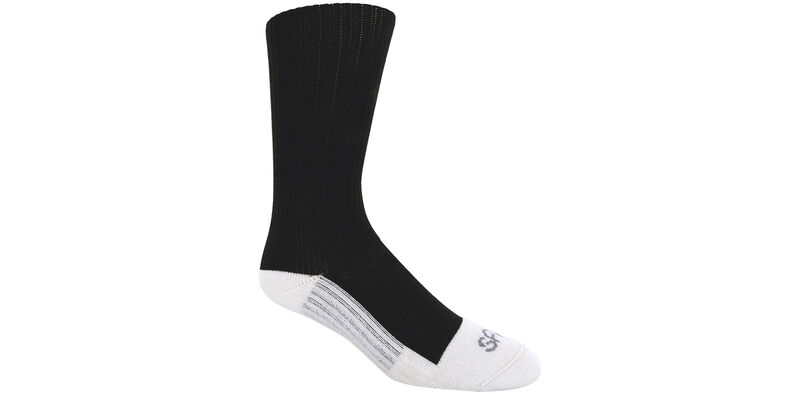 Diabetic Crew Medium Black Socks Model View