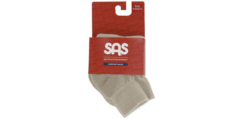 SAS Women's QTR Walker Socks Medium Khaki Package View