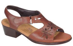 Sunburst Heel Strap Sandal