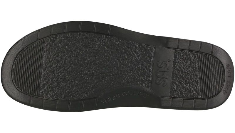 Side Gore Black Smooth Left Sole View