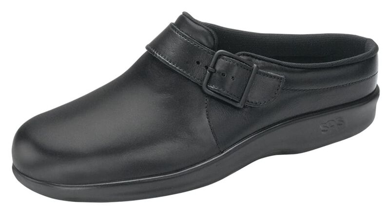 Clog Black Left .75 View