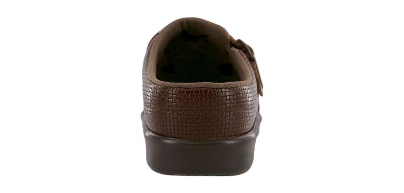 Clog Woven Brown Right Rear View
