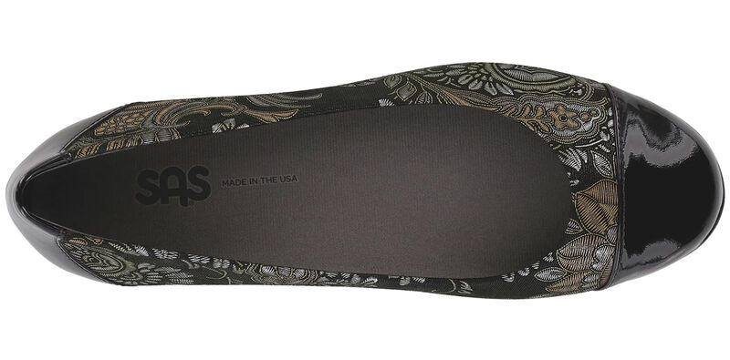 Scenic Brocade-Black Patent Left Top View