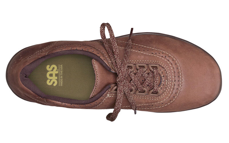 Walk Easy Chocolate Nubuck Left Top View