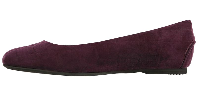 Lacey Slip On Loafer, Plum Croc Suede, large