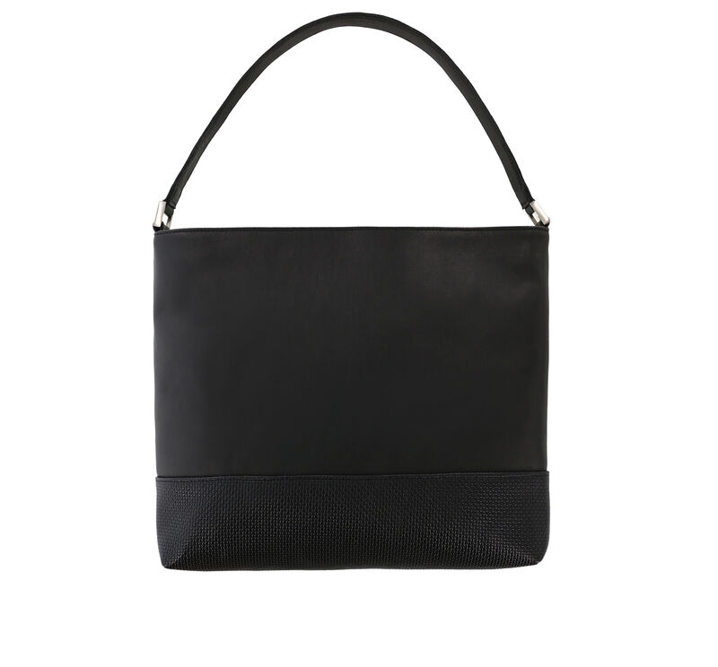 Jamie Black Woven Bag View