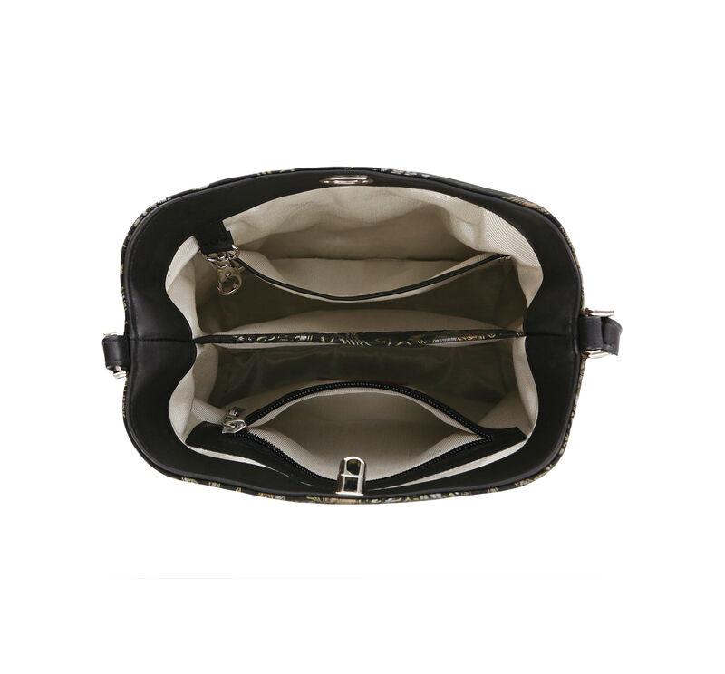 Heidi II Black Brocade Bag Open View 2