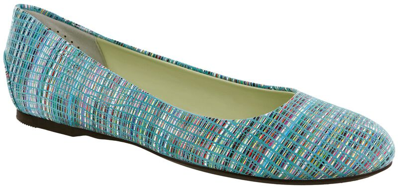 Lacey Slip On Loafer, Rainbow Turquoise, large