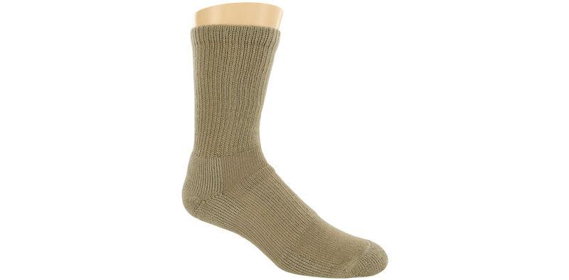 Thorlo Crew Large Khaki Socks Model View