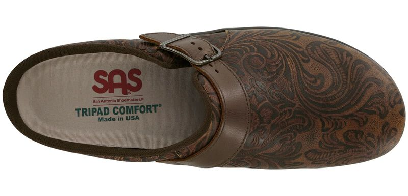 Clog Cowboy Floral Left Top View